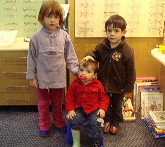 children at Zaman Opticians