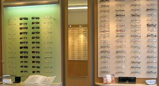 interior of Zaman Opticians